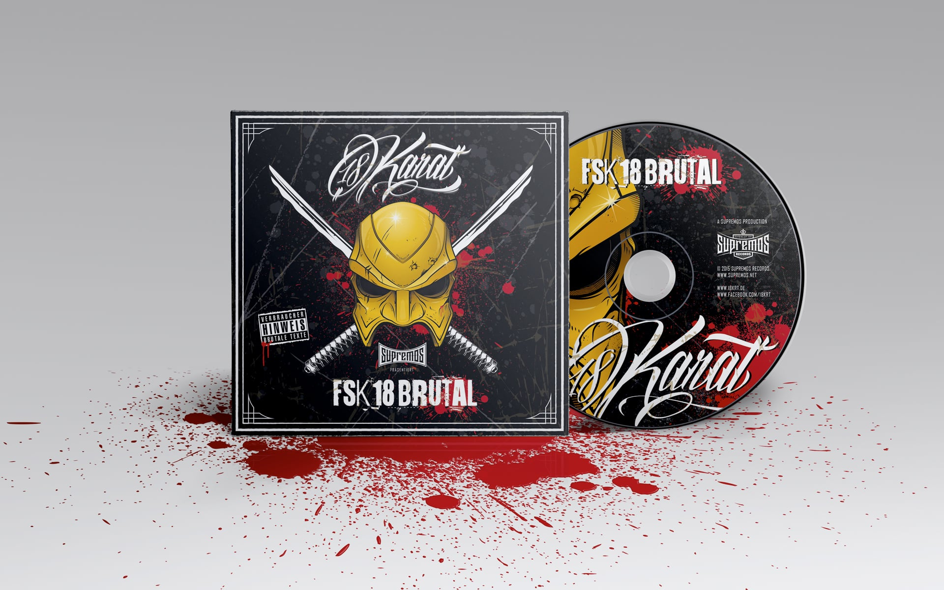 18 Karat Album CD Cover FSK18 Brutal