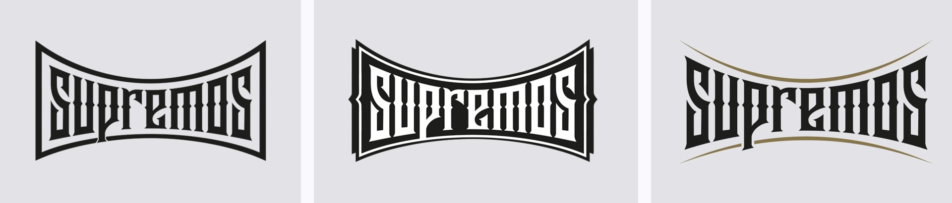 Supremos Logo-Design Typography