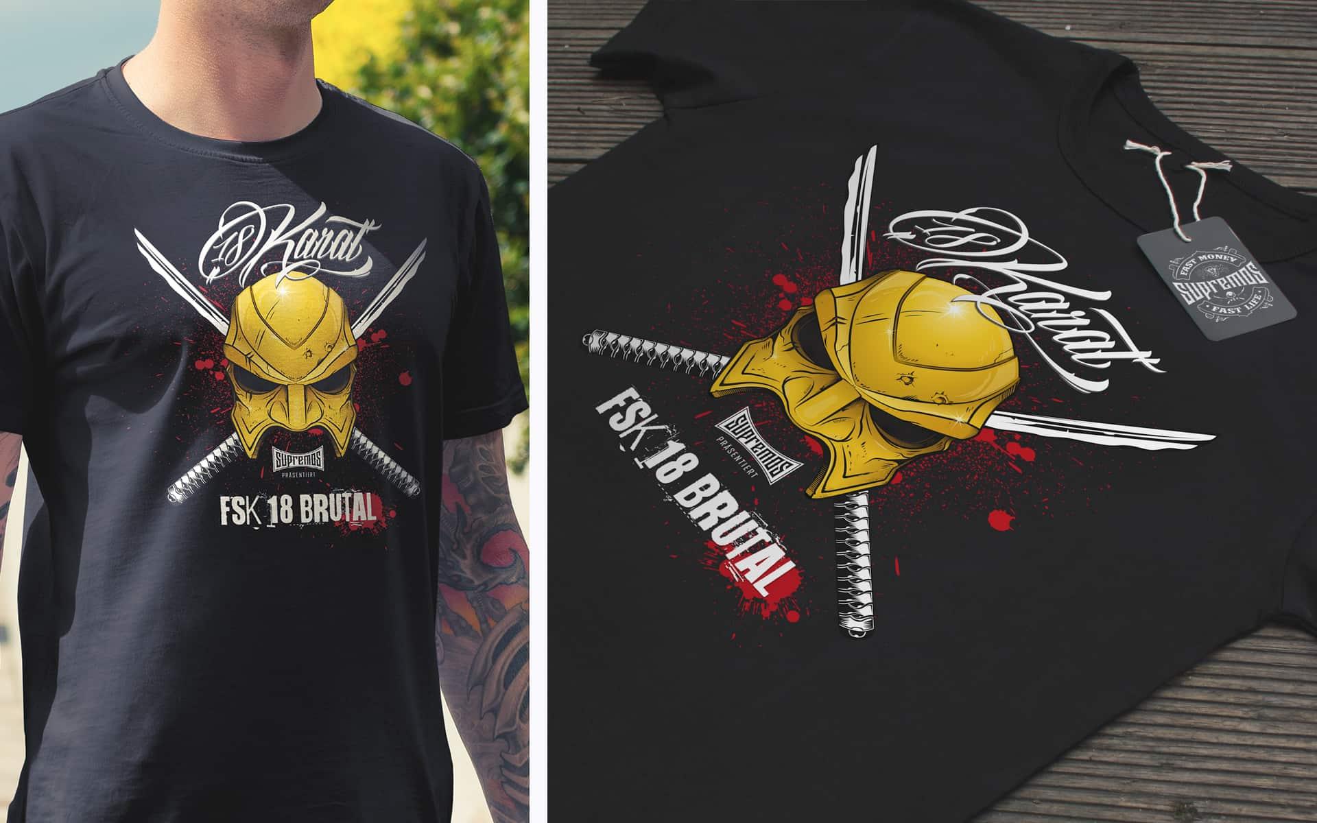 18 Karat T-Shirt-Design FSK18 Brutal
