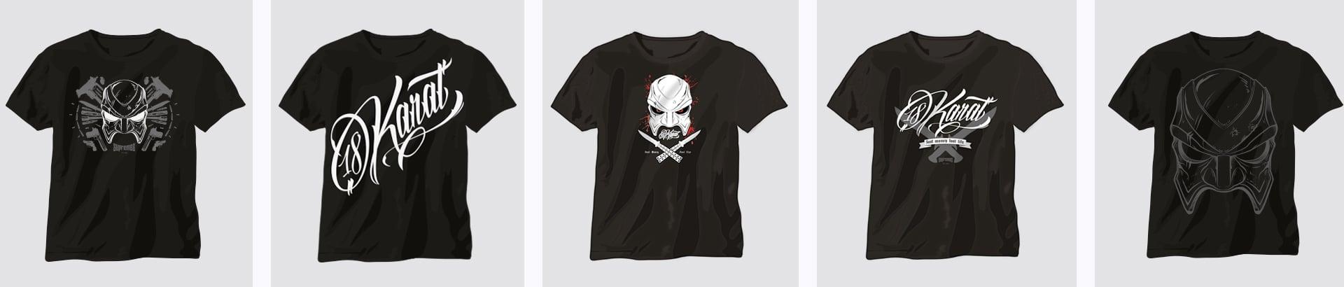 18 Karat T-Shirts Designkonzept