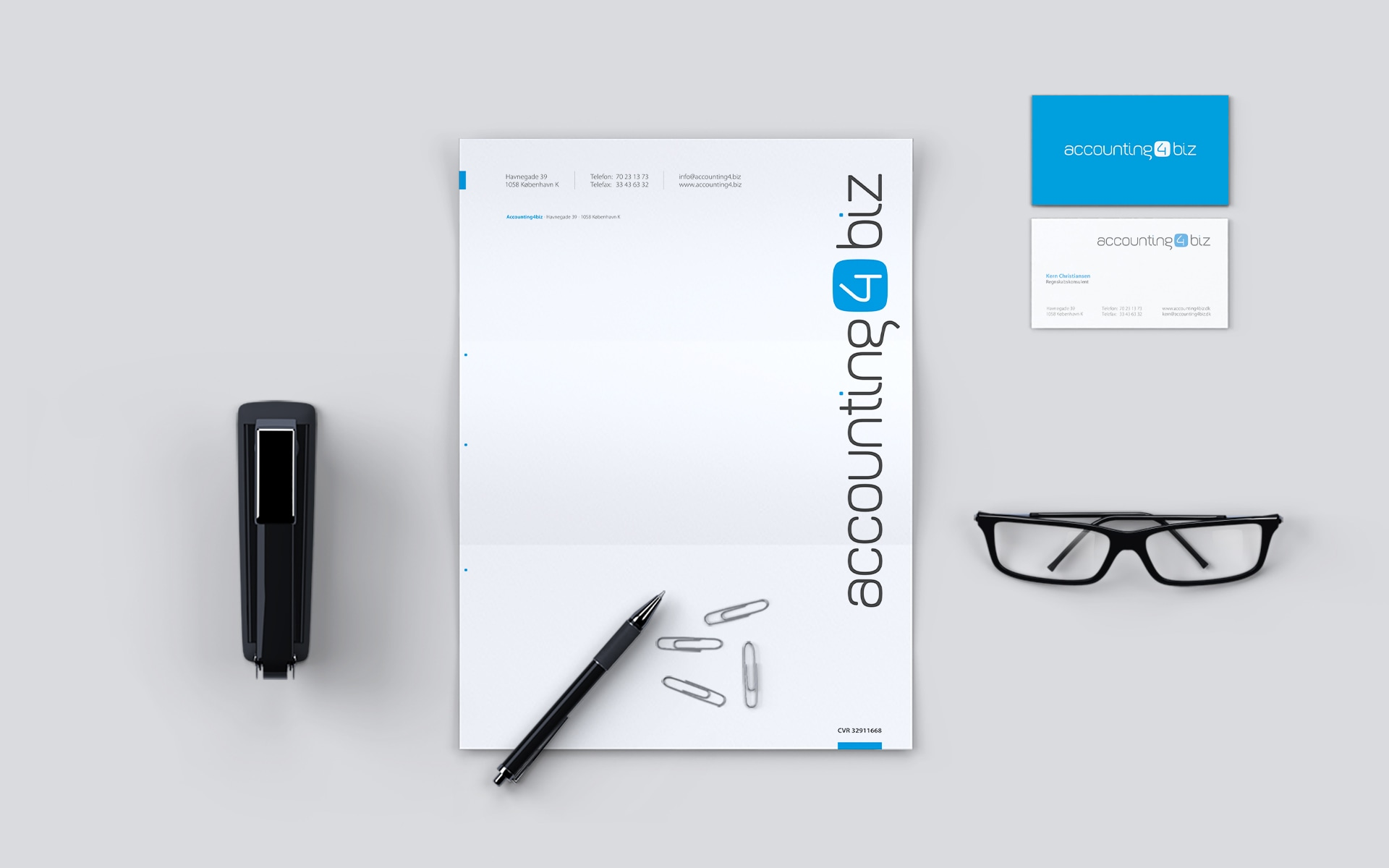 accounting4biz: Logo-Design, Corporate-Design