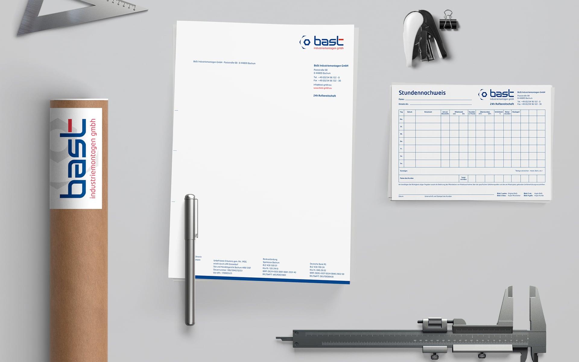 Bast Industriemontagen Corporate Design