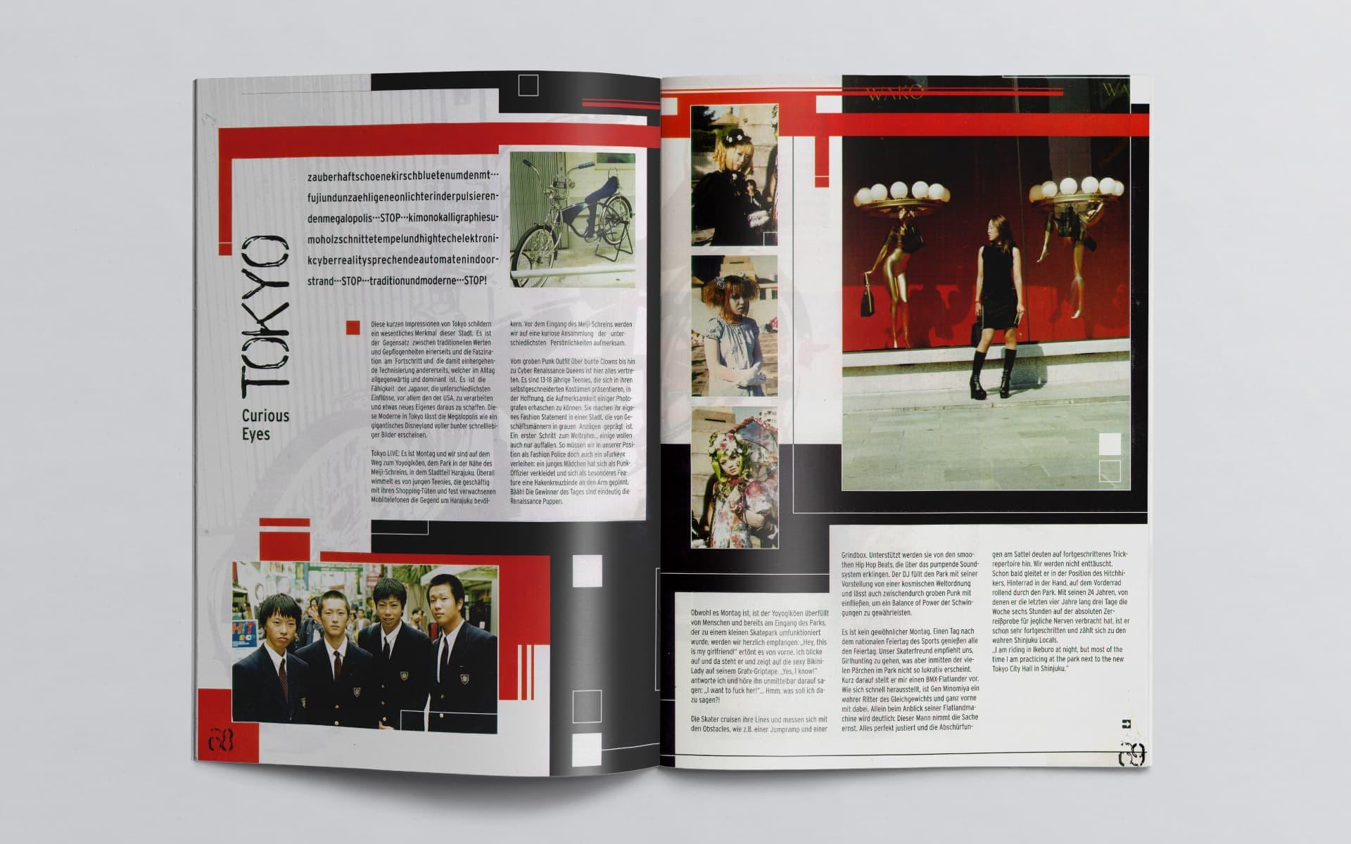 Doppelseite Boardstein Skateboard  Magazine