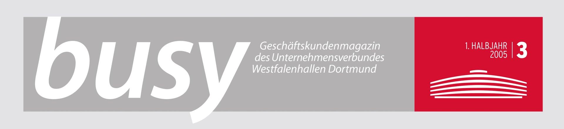 Logo Entwurf für das busy Magazin