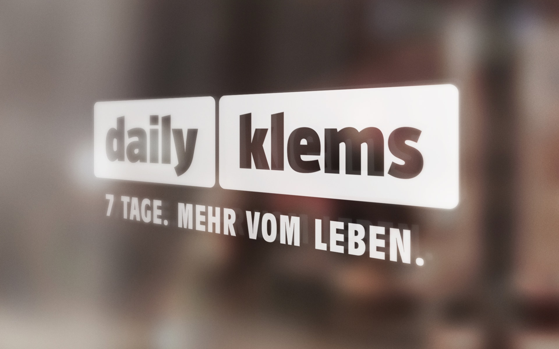 Daily-Klems Schaufensterbeklebung