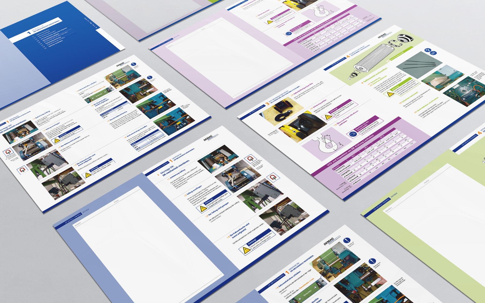 Farbsystem zur Unterteilung der Produktbereiche Diagnosehandbuch Demag Troubleshooting