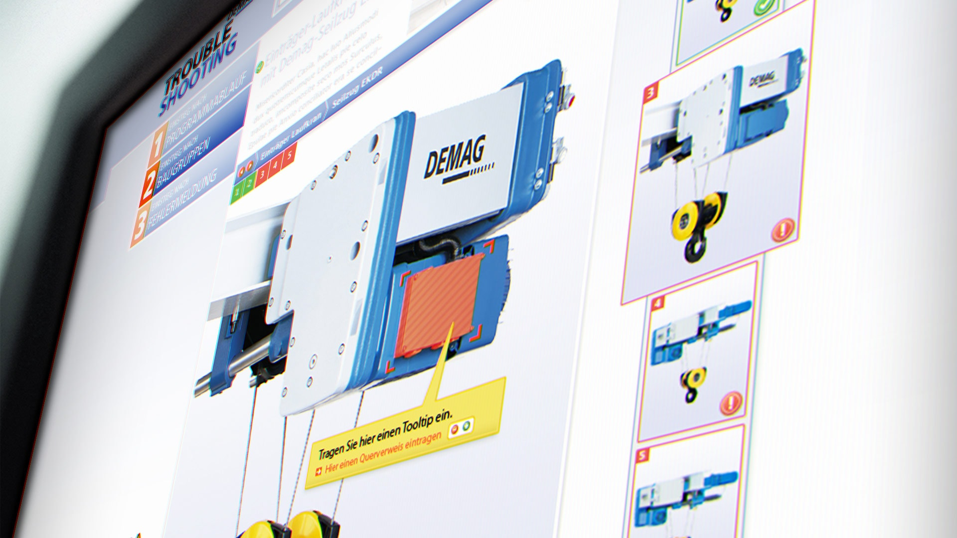 Backend: Fehlereingabe Diagnose-Software Demag Troubleshooting