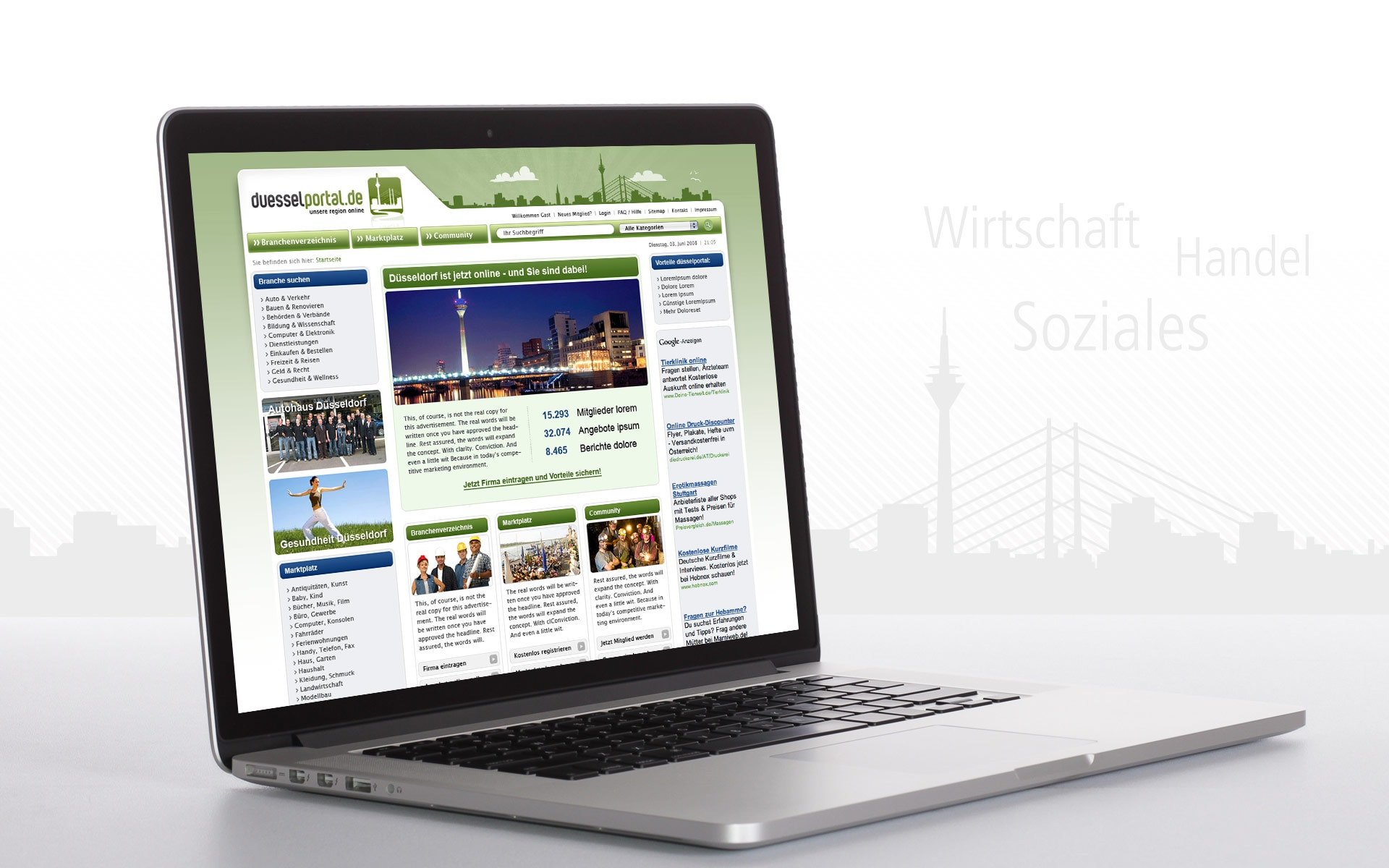 Düsselportal Website