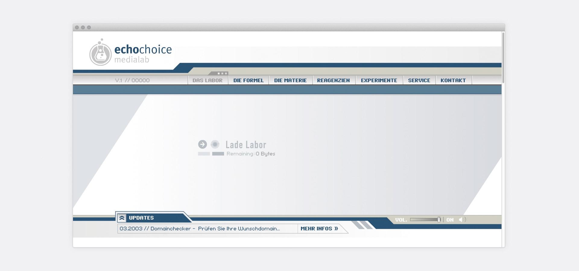 Interface, Newsticker echochoice medialab Website