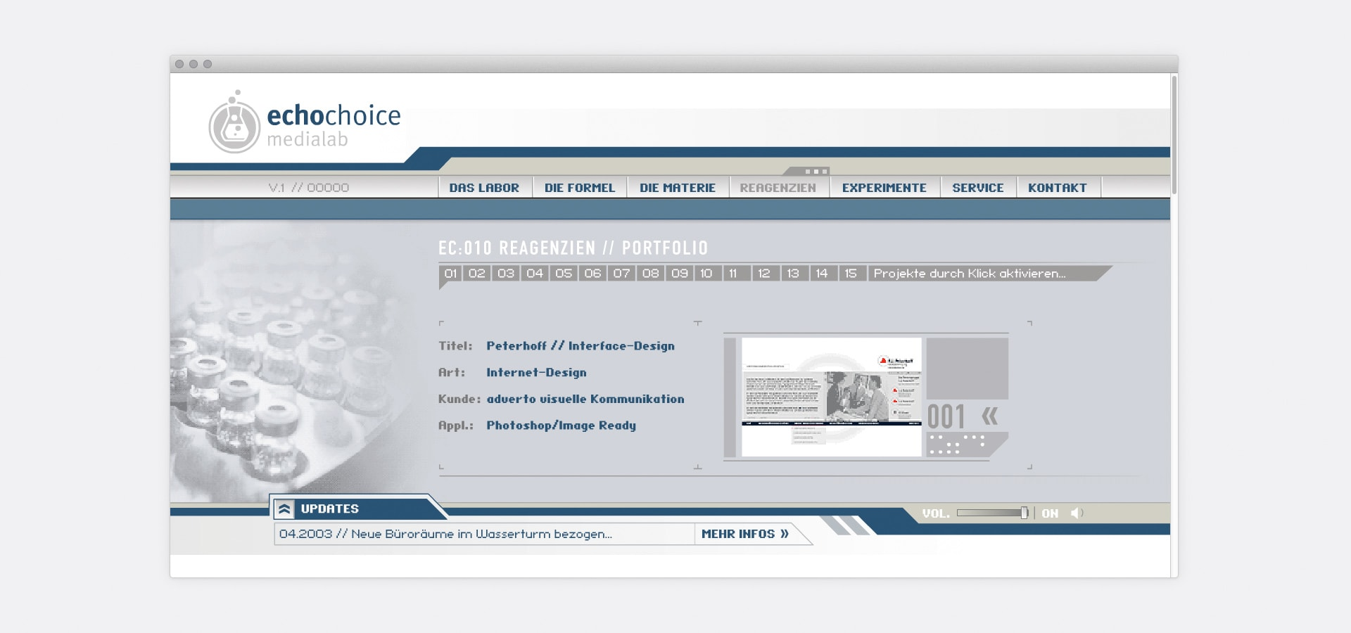 Portfolio echochoice medialab Website