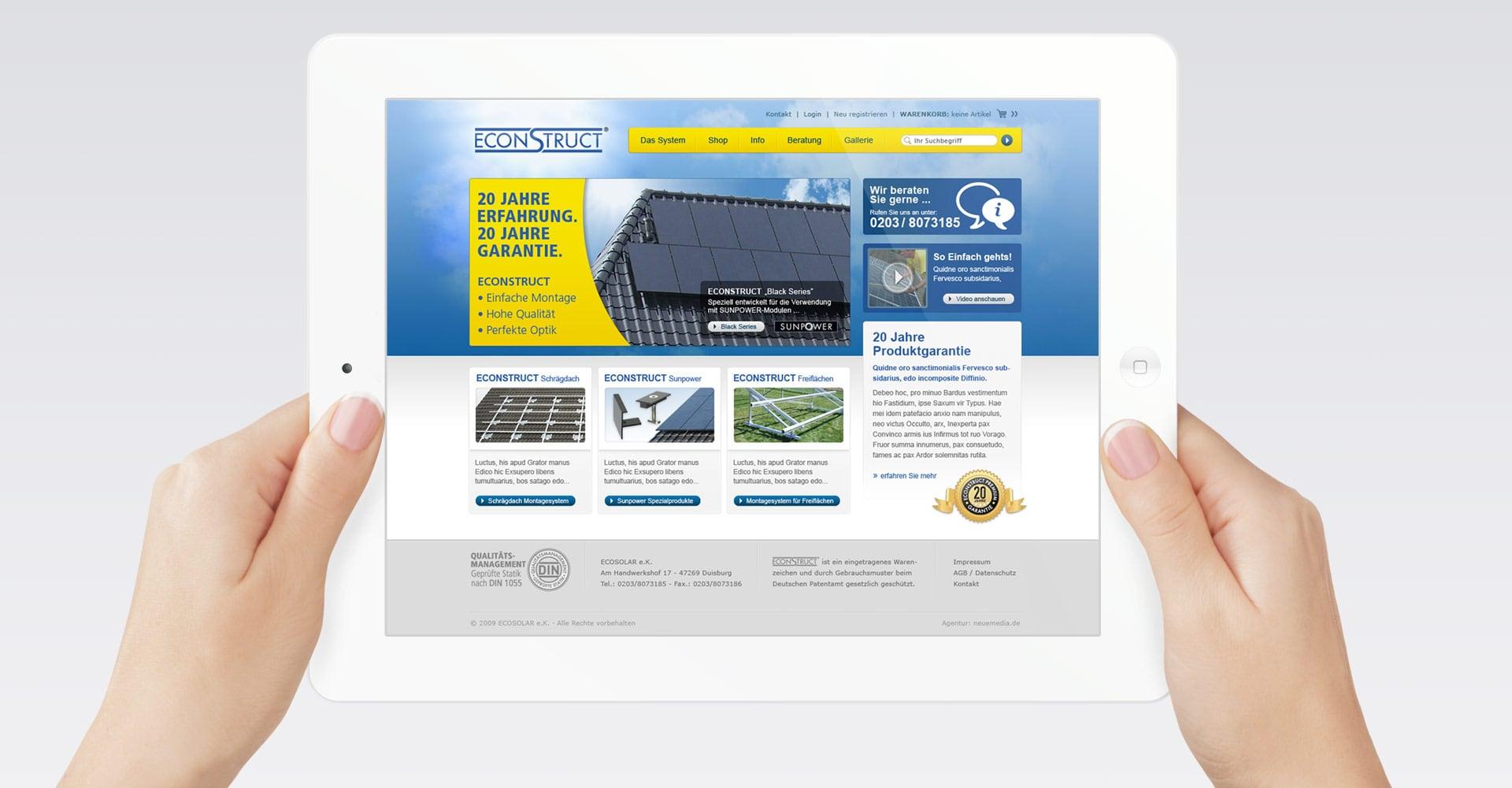 econstruct Webdesign Webshop