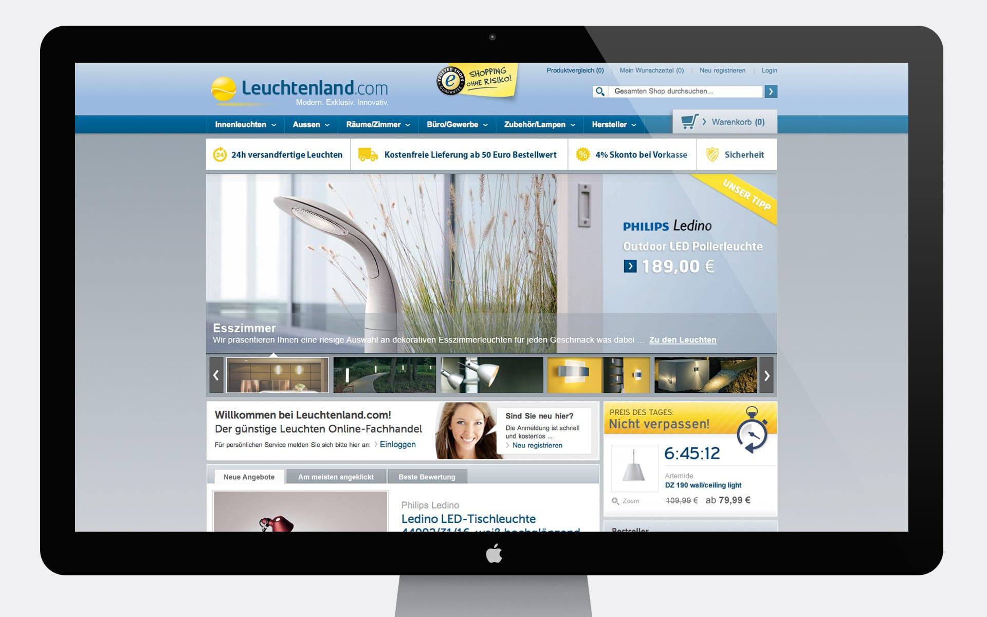 Leuchtenland.com Online-Shop