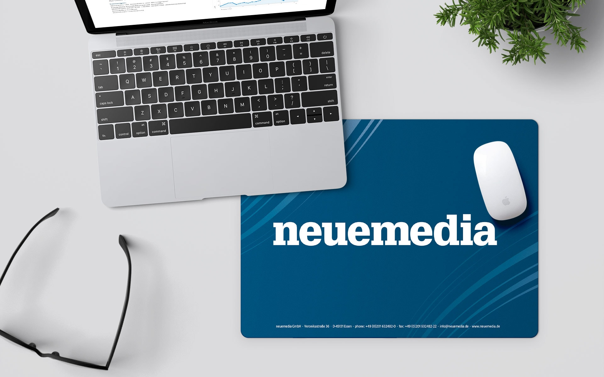 Mousepad neuemedia Corporate-Design