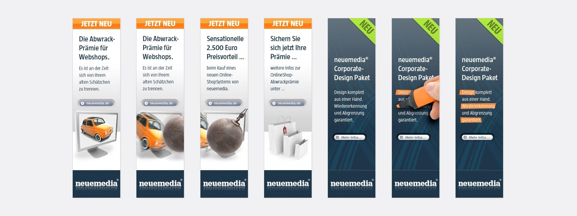 Webbanner neuemedia Website