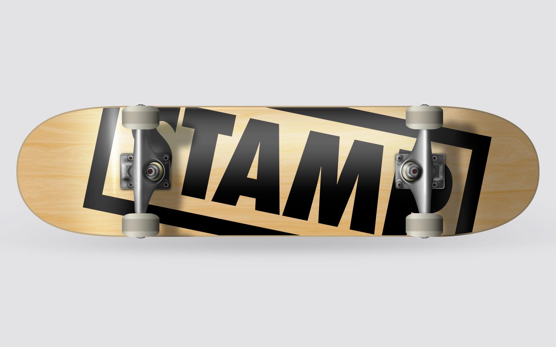 Stamp Skateboards Deck-Design